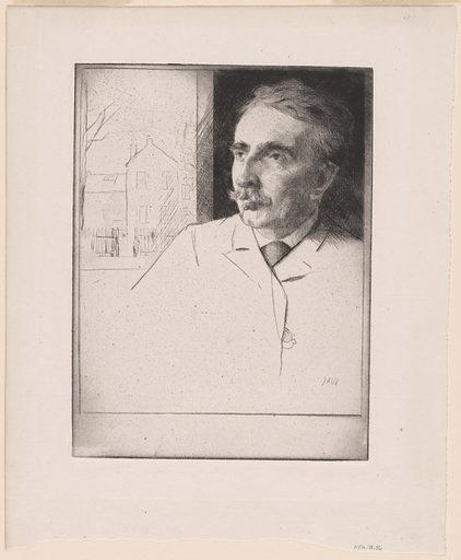 John Ferguson Weir. Sitter: John Ferguson Weir, 1841 – 9 Apr 1926. Date: 1890s. Record ID: npg_NPG.78.56.
