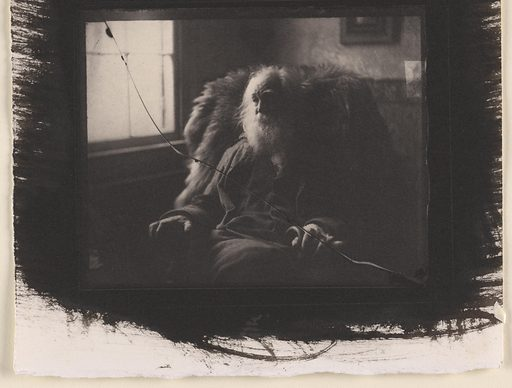 Walt Whitman. Sitter: Walt Whitman, 31 May 1819 – 26 Mar 1892. Date: 1890s. Record ID: npg_NPG.79.70.
