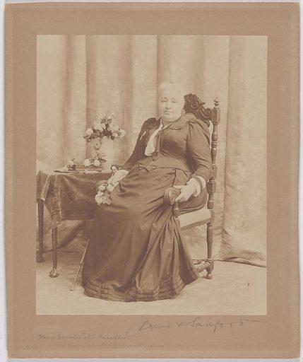 Varina Howell Davis. Sitter: Varina Howell Davis, 7 May 1826 – 16 Oct 1906. Date: 1880s. Record ID: npg_S_NPG.80.49.