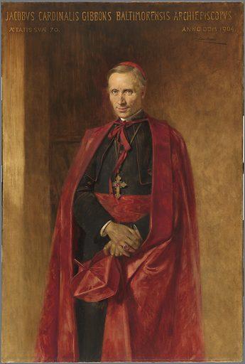 Cardinal James Gibbons. Sitter: James Gibbons, 23 Jul 1834 – 24 Mar 1921. Date: 1900s. Record ID: npg_NPG.91.196.