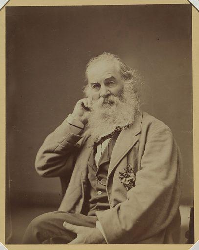 Walt Whitman. Sitter: Walt Whitman, 31 May 1819 – 26 Mar 1892. Date: 1860s. Record ID: npg_NPG.76.96.