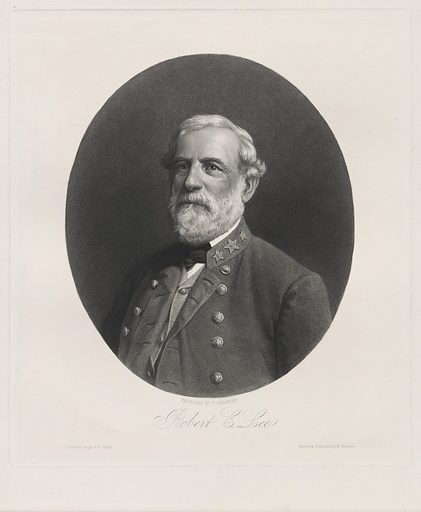 Robert E. Lee. Sitter: Robert Edward Lee, 19 Jan 1807 – 12 Oct 1870. Date: 1880s. Record ID: npg_NPG.84.93.