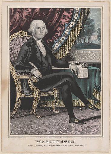 George Washington. Sitter: George Washington, 22 Feb 1732 – 14 Dec 1799. Date: 1840s. Record ID: npg_S_NPG.93.125.