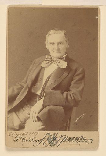 Joseph Jefferson. Sitter: Joseph Jefferson, 20 Feb 1829 – 23 Apr 1905. Date: 1890s. Record ID: npg_S_NPG.77.35.