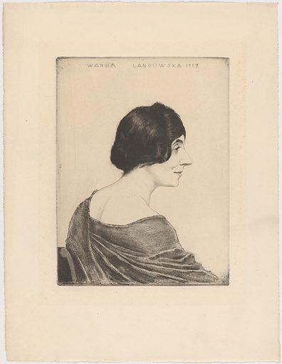 Wanda Louise Landowska. Sitter: Wanda Louise Landowska, 5 Jul 1879 – 16 Aug 1959. Date: 1910s. Record ID: npg_NPG.95.68.