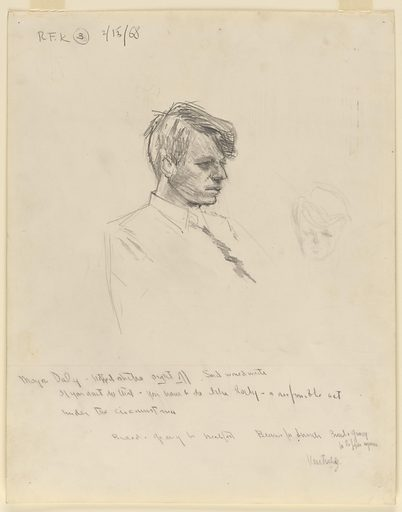 Robert F. Kennedy. Sitter: Robert Francis Kennedy, 20 Nov 1925 – 6 Jun 1968. Date: 1960s. Record ID: npg_NPG.69.54.4.