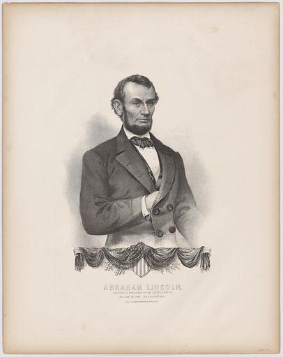Abraham Lincoln. Sitter: Abraham Lincoln, 12 Feb 1809 – 15 Apr 1865. Date: 1860s. Record ID: npg_NPG.89.47.