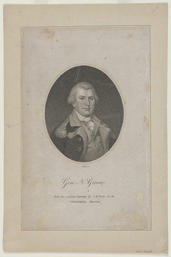 Nathanael Greene. Sitter: Nathanael Greene, 7 Aug 1742 – 19 Jun 1786. Date: 1810s. Record ID: npg_NPG.79.127.