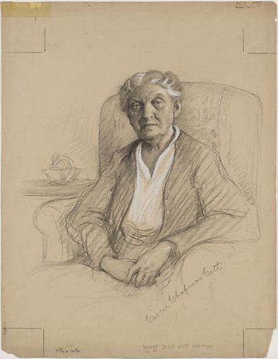 Carrie Chapman Catt. Sitter: Carrie Clinton Lane Chapman Catt, 9 Jan 1859 – 9 Mar 1947. Date: 1930s. Record ID: npg_NPG.87.171.