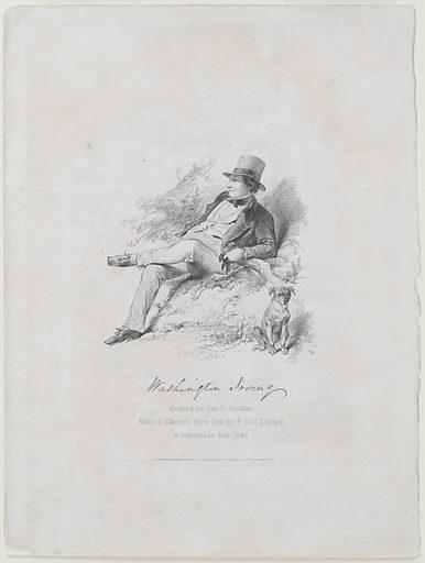 Washington Irving. Sitter: Washington Irving, 3 Apr 1783 – 28 Nov 1859. Date: 1850s. Record ID: npg_NPG.83.69.