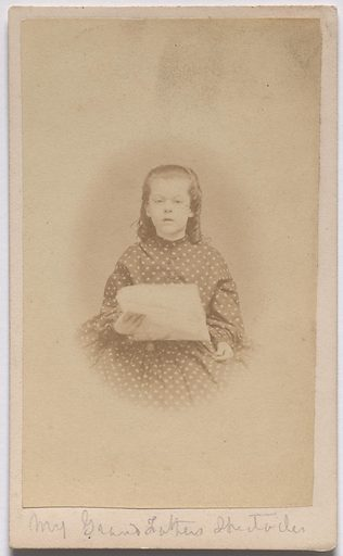 Sarah Meade. Sitter: Sarah Meade, 1855 – 1936. Date: 1860s. Record ID: npg_S_NPG.85.279.
