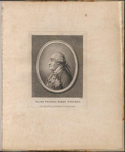 Baron von Steuben. Sitter: Friedrich Wilhelm von Steuben, 17 Sep 1730 – 28 Nov 1794. Date: 1780s. Record ID: npg_NPG.75.65.