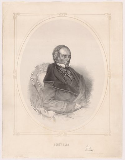Henry Clay. Sitter: Henry Clay, 12 Apr 1777 – 29 Jun 1852. Date: 1850s. Record ID: npg_NPG.96.203.