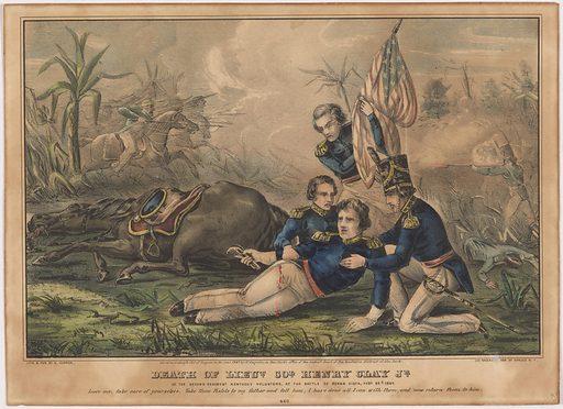 Death of Lieutenant Henry Clay Jr. Sitter: Henry Clay, Jr., 1811 – 1847. Date: 1840s. Record ID: npg_S_NPG.89.222.