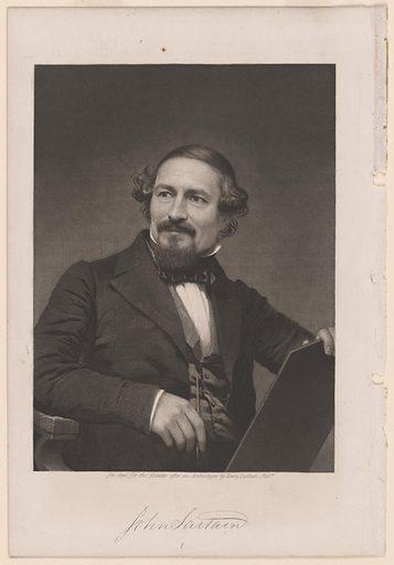 John Sartain Self-Portrait. Sitter: John Sartain, 24 Oct 1808 – 25 Oct 1897. Date: 1860s. Record ID: npg_S_NPG.80.66.