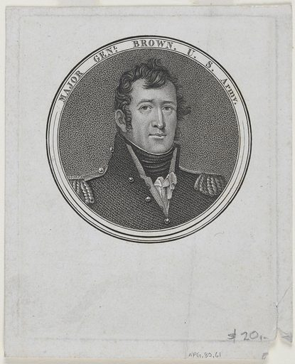 Jacob Jennings Brown. Sitter: Jacob Jennings Brown, 9 May 1775 – 24 Feb 1828. Date: 1810s. Record ID: npg_NPG.80.61.