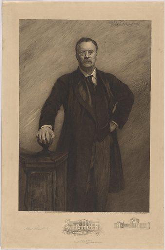 Theodore Roosevelt. Sitter: Theodore Roosevelt, 27 Oct 1858 – 6 Jan 1919. Date: 1900s. Record ID: npg_NPG.91.21.
