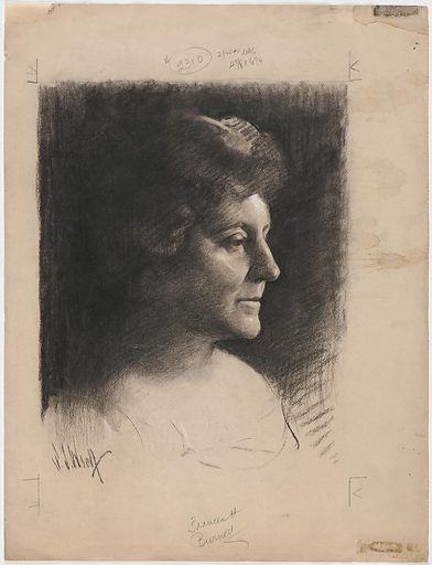 Frances Eliza Hodgson Burnett. Sitter: Frances Eliza Hodgson Burnett, 24 Nov 1849 – 29 Oct 1924. Date: 1920s. Record ID: npg_NPG.87.169.