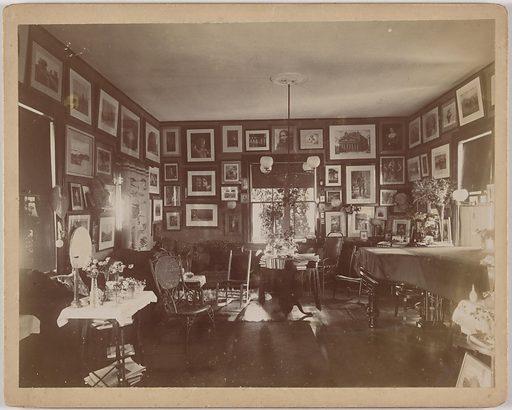 Celia Thaxter's Room of Flowers. Date: 1880s. Record ID: npg_AD_NPG.93.2.