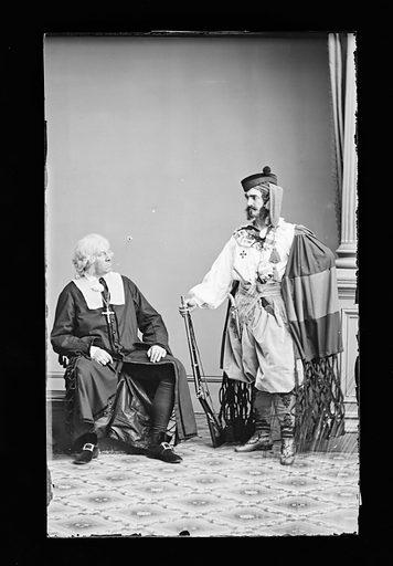 John Gilbert and Lester Wallack. Sitters: John Gilbert, 27 Feb 1810 – 1889; Lester Wallack, 1 Jan 1820 – 6 Sep 1888. Date: 1860s. Record ID: npg_NPG.81.M251.