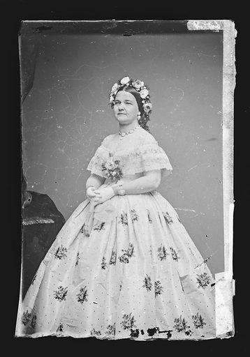 Mary Todd Lincoln. Sitter: Mary Ann Todd Lincoln, 13 Dec 1818 – 16 Jul 1882. Date: 1860s. Record ID: npg_NPG.81.M133.