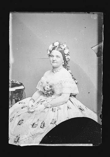 Mary Todd Lincoln. Sitter: Mary Ann Todd Lincoln, 13 Dec 1818 – 16 Jul 1882. Date: 1860s. Record ID: npg_NPG.81.M135.