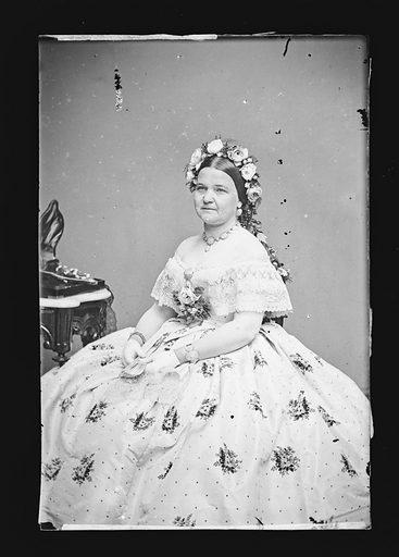 Mary Todd Lincoln. Sitter: Mary Ann Todd Lincoln, 13 Dec 1818 – 16 Jul 1882. Date: 1860s. Record ID: npg_NPG.81.M138.