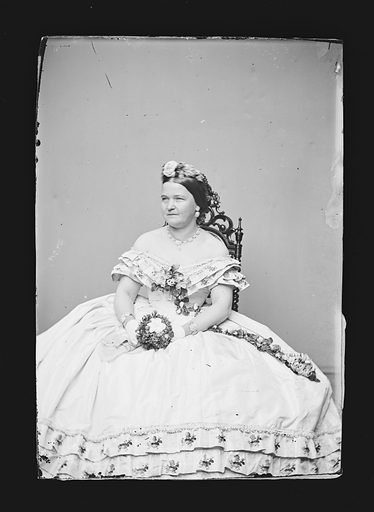 Mary Todd Lincoln. Sitter: Mary Ann Todd Lincoln, 13 Dec 1818 – 16 Jul 1882. Date: 1860s. Record ID: npg_NPG.81.M140.