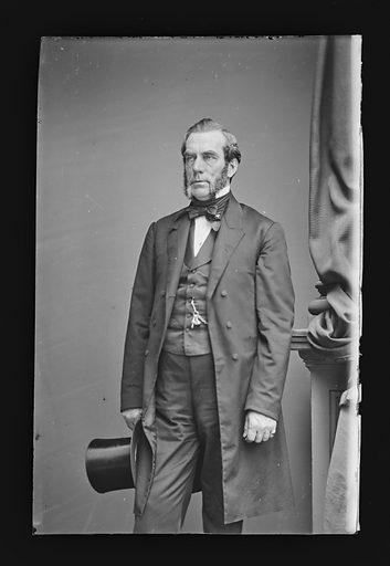 Edwin D. Morgan. Sitter: Edwin Denison Morgan, 8 Feb 1811 – 14 Feb 1883. Date: 1860s. Record ID: npg_NPG.81.M1198.