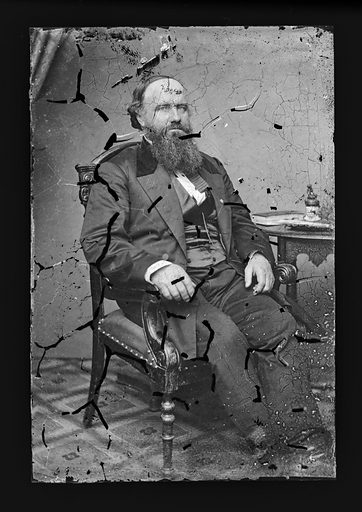 Samuel C. Pomeroy. Sitter: Samuel Clarke Pomeroy, 3 Jan 1816 – 27 Aug 1891. Date: 1860s. Record ID: npg_NPG.81.M1298.