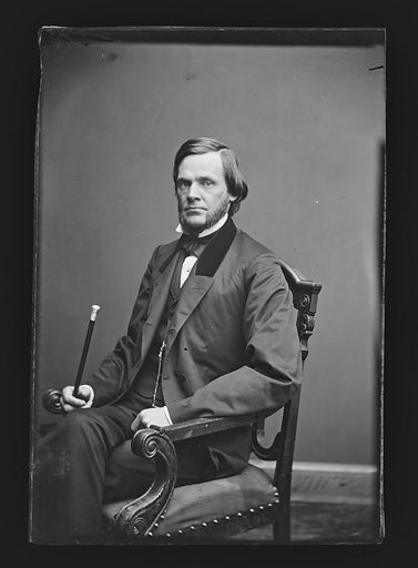 John Sherman. Sitter: John Sherman, 10 May 1823 – 22 Oct 1900. Date: 1860s. Record ID: npg_NPG.81.M1413.