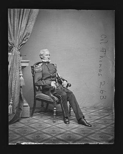 Lorenzo Thomas. Sitter: Lorenzo Thomas, 1804 – 1875. Date: 1860s. Record ID: npg_NPG.81.M1487.
