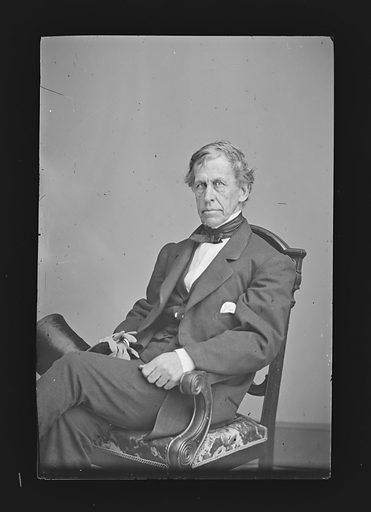 Charles Wilkes. Sitter: Charles Wilkes, 3 Apr 1798 – 8 Feb 1877. Date: 1860s. Record ID: npg_NPG.81.M204.