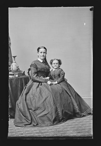 Minnie Warren and Mrs. Sylvester Bleeker. Sitters: Minnie Warren, 1842 – 1878; Mrs. Sylvester Bleeker, active mid 19th Century. Date: 1860s. Record ID: npg_NPG.81.M1769.