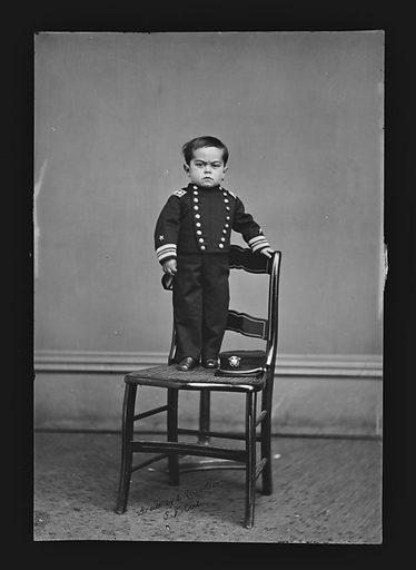 Admiral Dot. Artist: Bradley And Rulofson Studio, 1863 – 1878. Sitter: Leopold Kahn, ? – c. 1918. Date: 1860s. Record ID: npg_NPG.81.M1850.