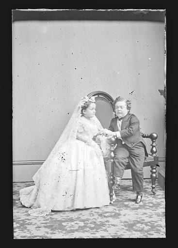 Charles and Lavinia Stratton. Sitters: Charles Sherwood Stratton, 4 Jan 1838 – 15 Jul 1883; Lavinia Warren Stratton, 31 Oct 1841 – 25 Nov 1919. Date: 1860s. Record ID: npg_NPG.81.M1872.