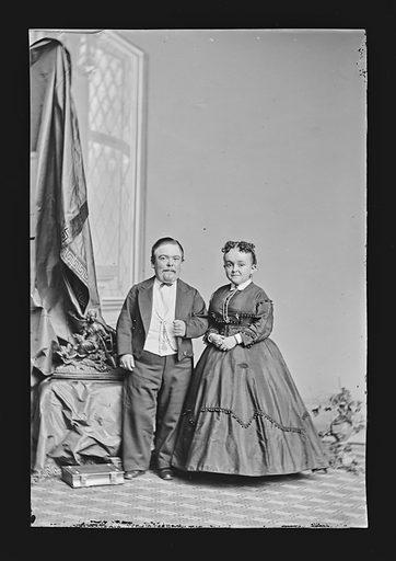 Charles and Lavinia Stratton. Sitters: Charles Sherwood Stratton, 4 Jan 1838 – 15 Jul 1883; Lavinia Warren Stratton, 31 Oct 1841 – 25 Nov 1919. Date: 1860s. Record ID: npg_NPG.81.M1914.