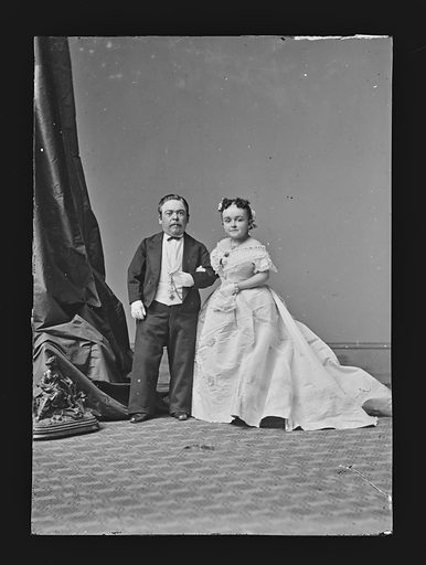 Charles and Lavinia Stratton. Sitters: Charles Sherwood Stratton, 4 Jan 1838 – 15 Jul 1883; Lavinia Warren Stratton, 31 Oct 1841 – 25 Nov 1919. Date: 1860s. Record ID: npg_NPG.81.M2078.