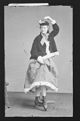 Roller Skater. Date: 1860s. Record ID: npg_NPG.81.M2352.