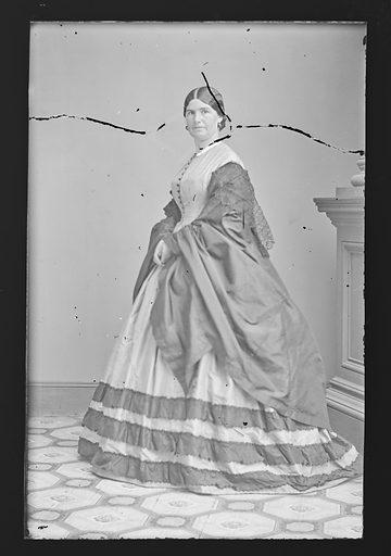 Mrs. Nathaniel P. [Mary] Banks. Sitter: Mary I. Palmer. Date: 1860s. Record ID: npg_NPG.81.M2392.