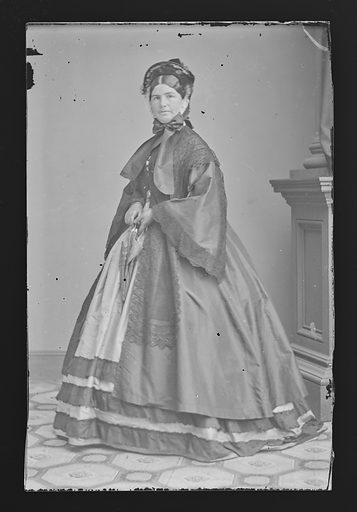 Mrs. Nathaniel P. [Mary] Banks. Sitter: Mary I. Palmer. Date: 1860s. Record ID: npg_NPG.81.M2393.