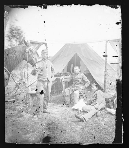 Civil War Camp Scenes / Possibly New York 7th Regiment. Date: 1860s. Record ID: npg_NPG.81.M2413.