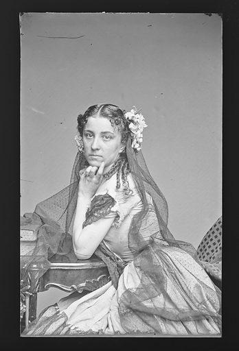 Jennie Cleever. Sitter: Jennie Cleever. Date: 1860s. Record ID: npg_NPG.81.M2428.