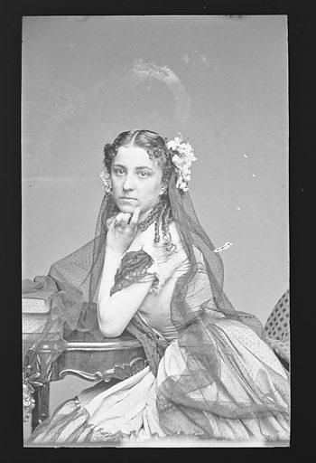 Jennie Cleever. Sitter: Jennie Cleever. Date: 1860s. Record ID: npg_NPG.81.M2429.