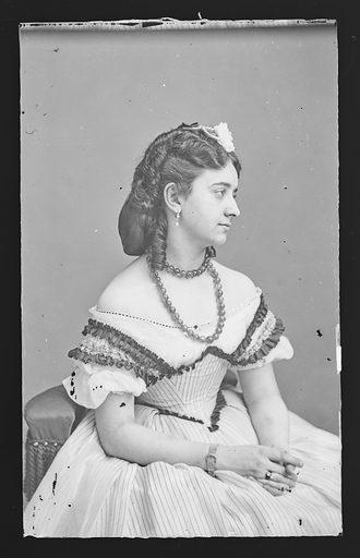 Anna LaGrange. Sitter: Anna LaGrange. Date: 1860s. Record ID: npg_NPG.81.M2575.