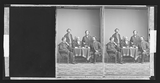 U.S. Sanitary Commission [Henry W. Bellows et al.]. Sitters: Henry Whitney Bellows, 1814 – 1882; George Templeton Strong; Cornelius Rea Agnew, 1830 – 1888; William H. Van Buren; Oliver Wolcott Gibbs, 1822 – 1908. Date: 1860s. Record ID: npg_NPG.81.M2952.2.