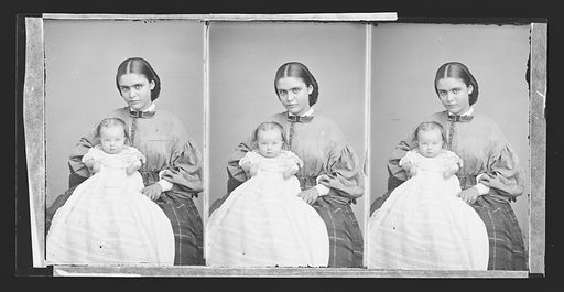 Baby Stratton and Nurse. Date: 1860s. Record ID: npg_NPG.81.M3031.3.