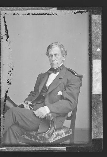 Charles Wilkes. Sitter: Charles Wilkes, 3 Apr 1798 – 8 Feb 1877. Date: 1860s. Record ID: npg_NPG.81.M3058.3.