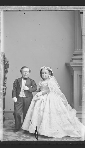 Charles and Lavinia Stratton. Sitters: Charles Sherwood Stratton, 4 Jan 1838 – 15 Jul 1883; Lavinia Warren Stratton, 31 Oct 1841 – 25 Nov 1919. Date: 1860s. Record ID: npg_NPG.81.M3095.2.