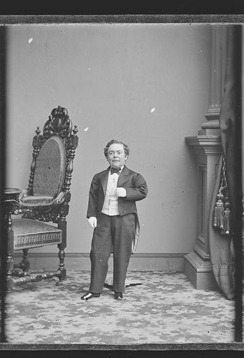 Charles Sherwood Stratton. Sitter: Charles Sherwood Stratton, 4 Jan 1838 – 15 Jul 1883. Date: 1860s. Record ID: npg_NPG.81.M3139.2.
